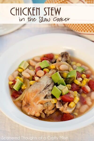Chicken Stew in the Slow Cooker