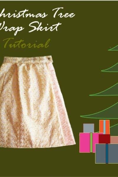 Christmas Tree Wrap Skirt Tutorial