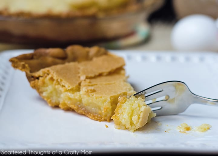 This Old Fashioned Chess Pie recipe is one of my favorites!  It's gooey, buttery flavor is very sweet and rich. and is the perfect sweet ending to any holiday meal or special occasion.
