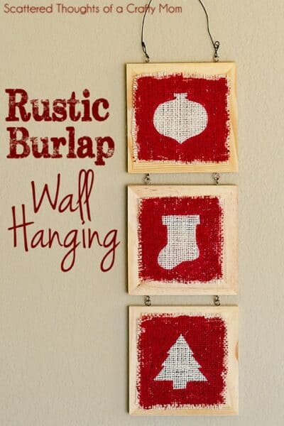 Rustic Burlap Wall Hanging