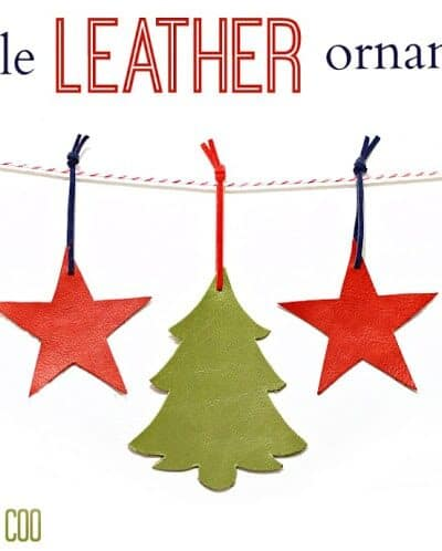 Simple Leather Ornaments