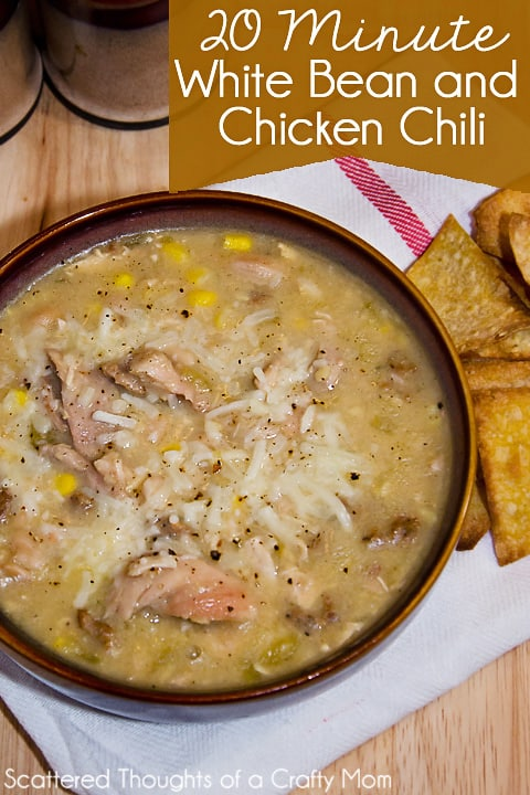 Easy 20 Minute White Bean Chicken Chili Recipe