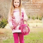 Sew a Raglan-style Tunic top for your little one using this free PDF pattern in sizes 4, 5, 6, 7, 8.
