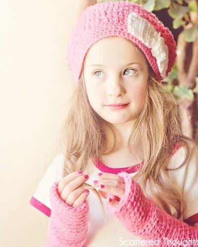Slouchy Crochet Beanie and Arm Warmers