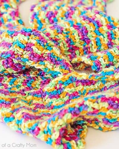 Rainbow Bright Crocheted Infinity Scarf