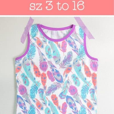 Girls Knit Tank Top Pattern and Tutorial (size 3 to 16)