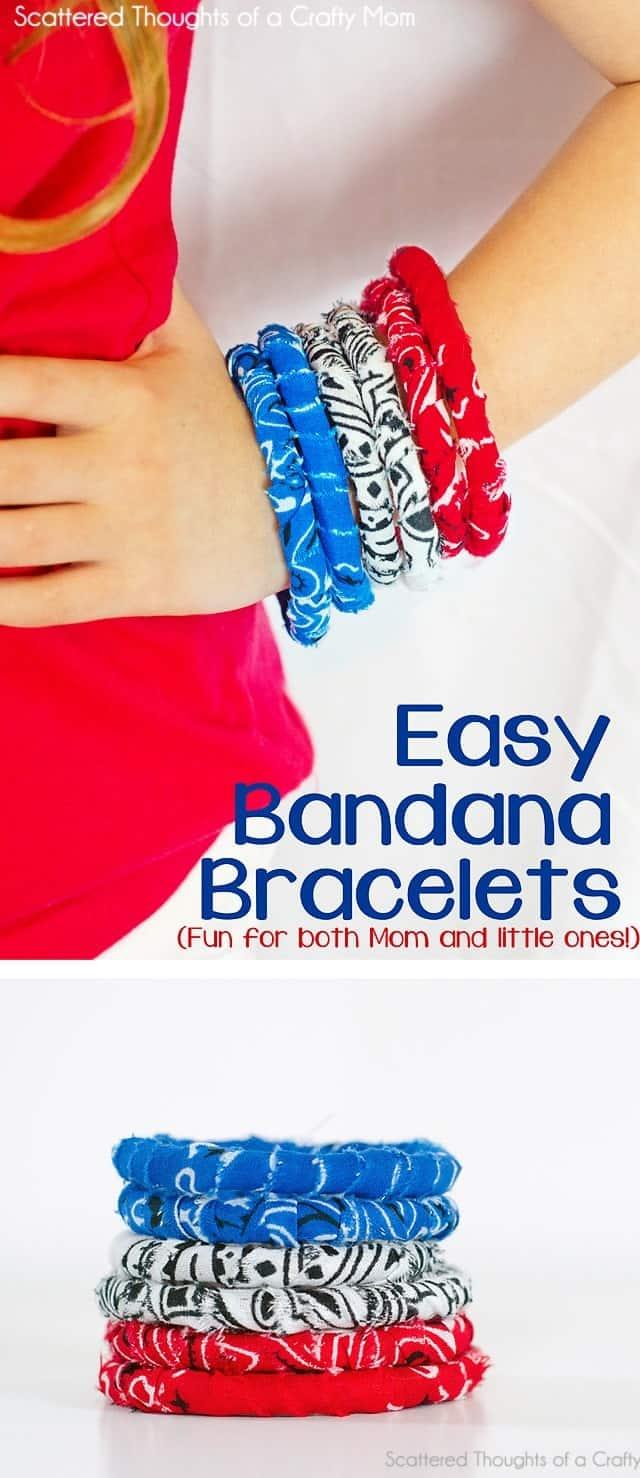 No Sew Simple Fabric Bracelet Tutorial W Banadanas
