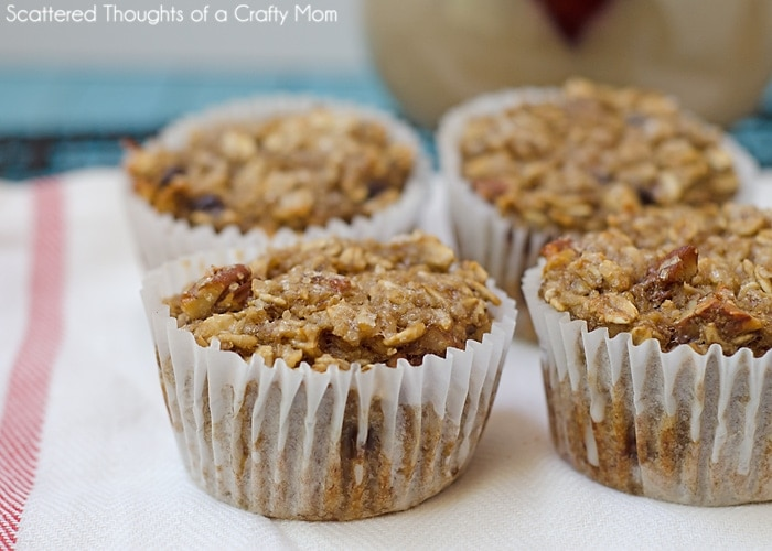 Baked Banana Oatmeal Cups - the perfect Grab and Go breakfast for busy mornings!