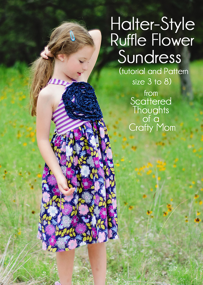 Girls halter style sundress free pattern
