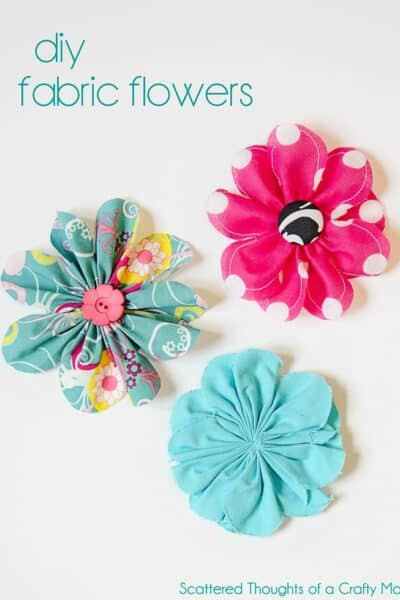 Simple 5 Inch Fabric Flower Tutorial