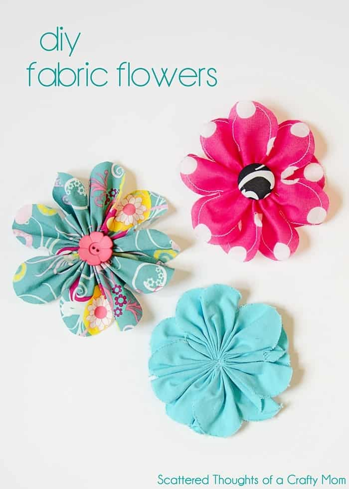 simple 5 inch fabric flower tutorial scattered thoughts of a crafty mom. Black Bedroom Furniture Sets. Home Design Ideas