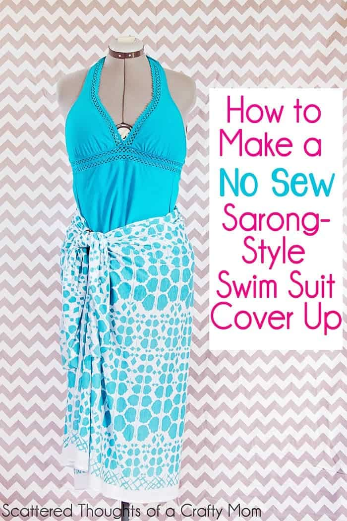 How to make a No Sew Swim Suit Cover up in 2 minutes flat!