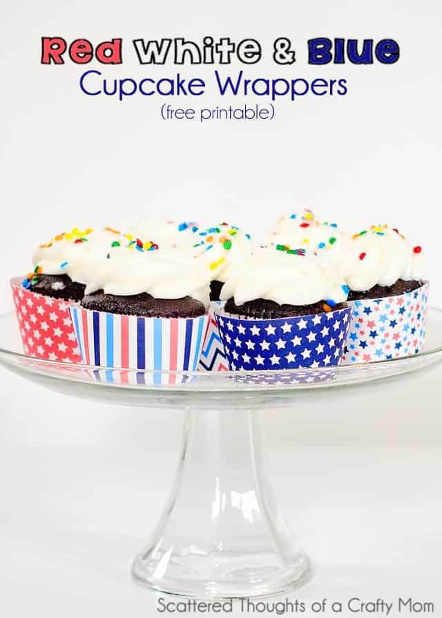 image about Printable Cupcake identified as Free of charge Printable Purple White and Blue Cupcake Wrappers