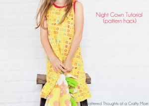 free nightgown tutorial and pattern