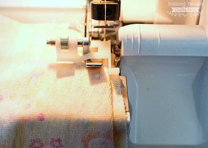 How to make a blind hem with a serger