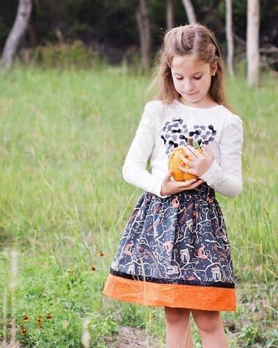 Flat Front Halloween Skirt