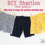 DIY Shorties plus Learn how to Serge the Perfect Stretchy Hem (w/the blind hem foot)