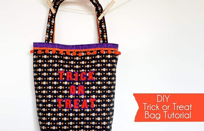 DIY Halloween Trick or Treat Bag Tutorial