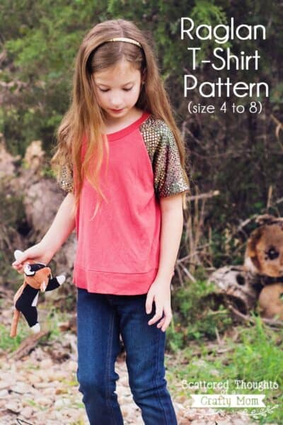 Blinged-Out Raglan Tee (free pattern)