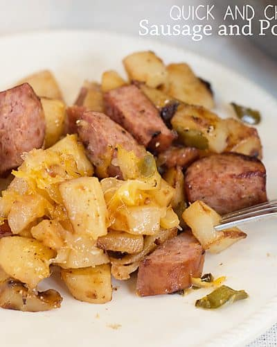 Easy Skillet Meal: Cheesy Sausage and Potato Hash