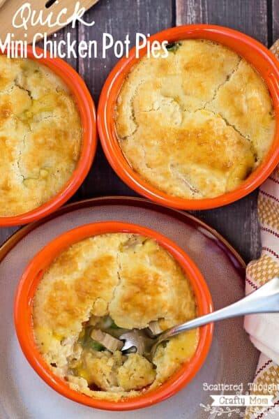 Quick and Easy Mini Chicken Pot Pies Recipe