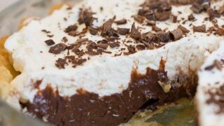 This Homemade Chocolate Cream Pie Recipe is so chocolatey, creamy and delicious!