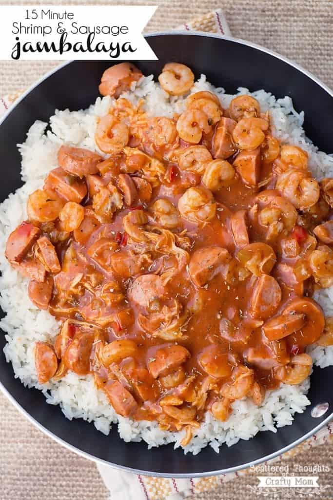 15 Minute Shrimp and Sausage Jambalaya