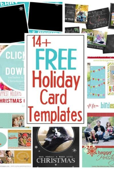 DIY Holiday Postcards + 14 Free Holiday Card Templates