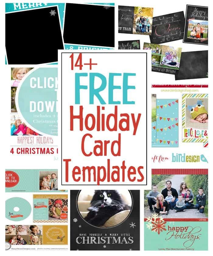 diy holiday postcards   14 free holiday card templates
