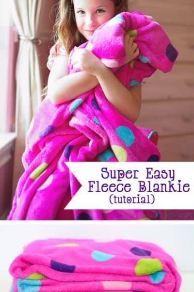 Easy Fleece Blanket Tutorial