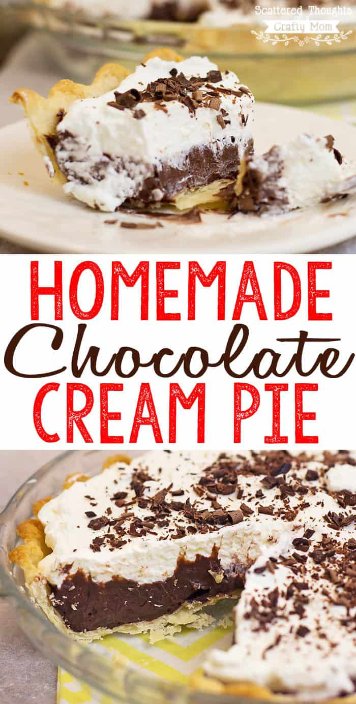 This Homemade Chocolate Cream Pie recipe is so luscious, creamy and chocolatey, plus it is surprisingly easy to make and I think you'll agree, this might be the best Chocolate Cream pie ever.