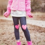 Heart Appliqued Leggings (No-Sew)