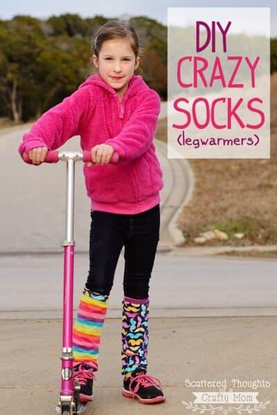 DIY Crazy Socks (Leg Warmers) Tutorial