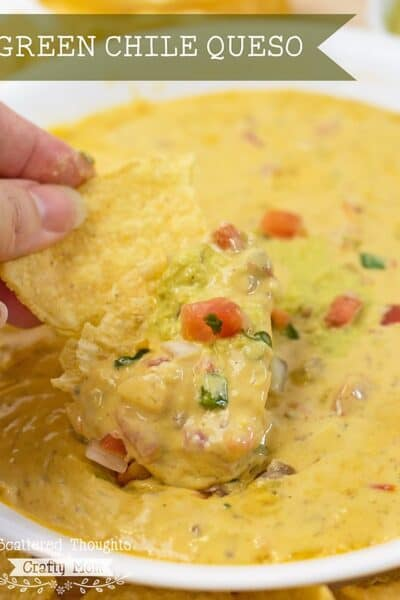 Spicy Green Chile Queso (or not so spicy)