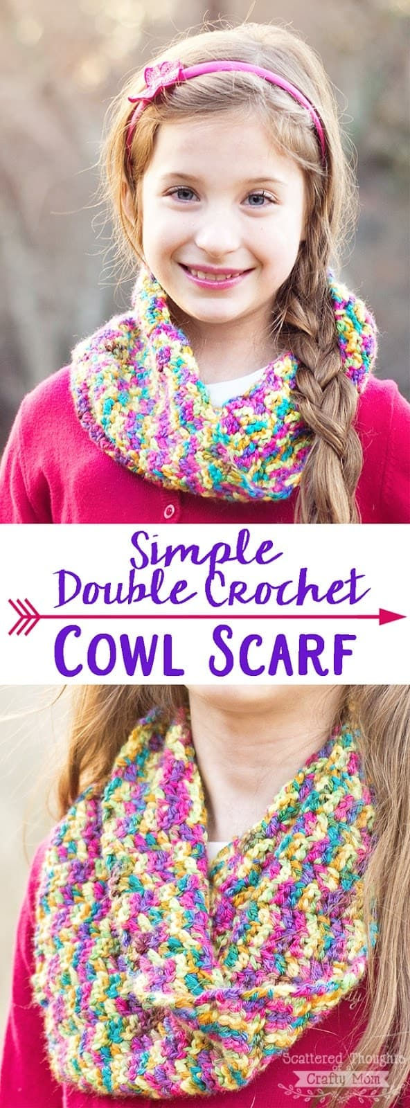 Make this adorable Double Crochet Cowl Scarf! (video tutorial included)