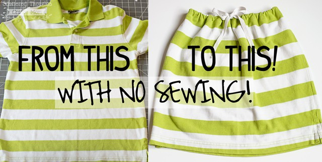 make a skirt with no sewing