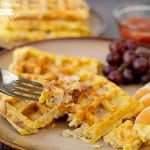 bacon and egg waffles