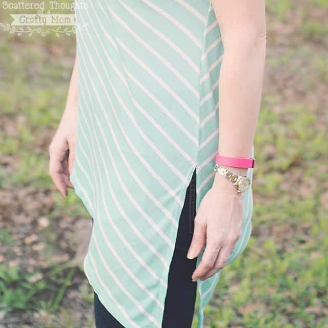 Free Ladies Asymmetrical Hem T-Shirt Pattern