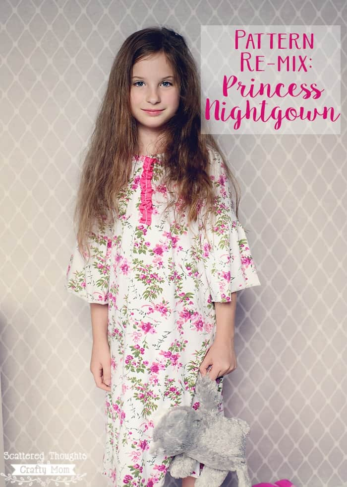 Make this sweet nightgown for your little one with the free linked pattern! (sizes 12 months to 8yrs)