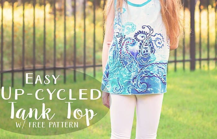 Easy Upcycled Tank Top (free pattern)