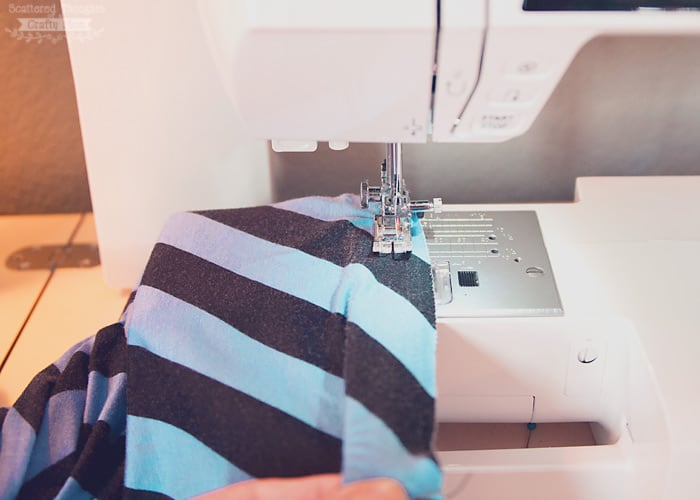 how to sew elastic onto the waistband
