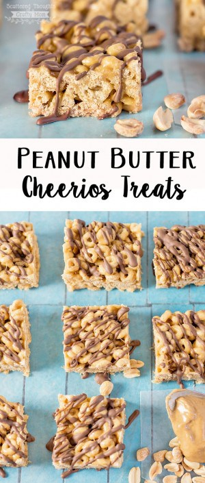 No Bake Peanut Butter Cheerios Treats