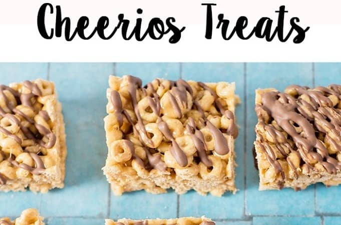 No Bake Peanut Butter Cheerios Treats