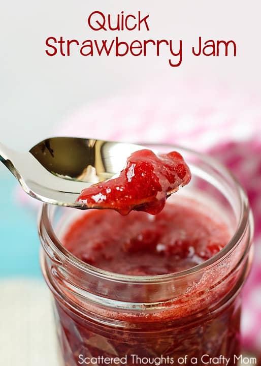 Quick and Easy Strawberry Jam Recipe with no pectin