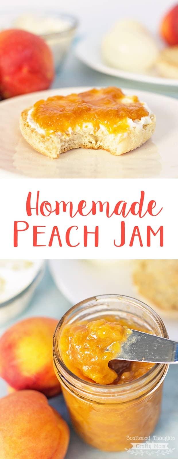 Use your fresh or frozen peaches to make this Easy Homemade Peach Jam. (No Pectin, easy Peach Jam Recipe)