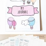 Got little ones struggling with their handwriting? Why not make practicing fun with these free printable journaling pages for kids! (Plus learn how to easily bind the pages into a notepad.)