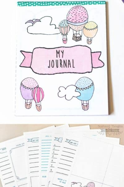Make a Journaling Notebook for Kids with these Free Printable Pages
