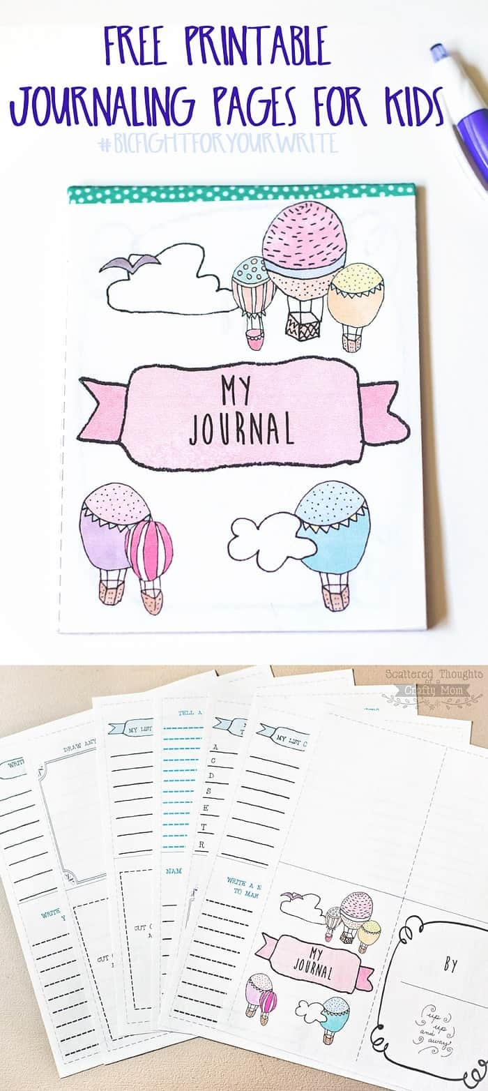 photo about Printable Journals named Crank out a Journaling Laptop computer for Little ones with Individuals Totally free