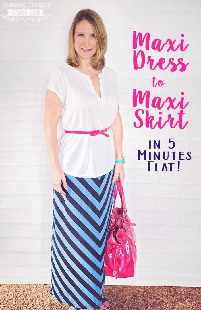 make a maxi skirt from a maxi dress