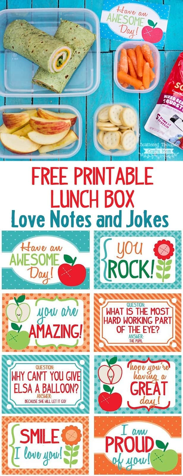 Free Printable Lunch Box Love Notes and Jokes
